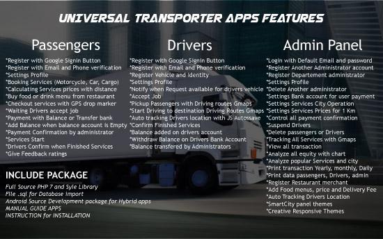 Universal Transporter Apps - 3